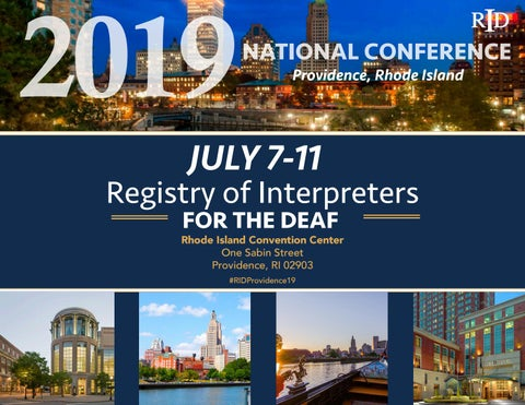 2019 RID National Conference Sponsor package by Registry of