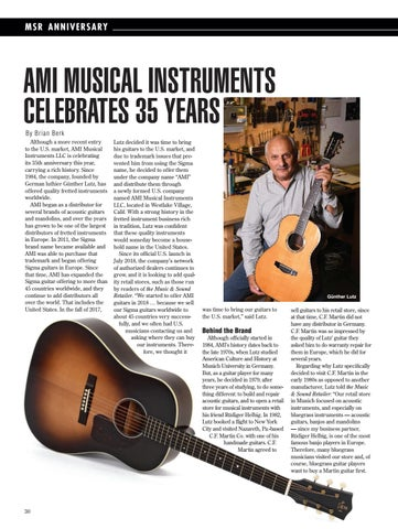 Page 30 of AMI MUSICAL INSTRUMENTS CELEBRATES 35 YEARS
