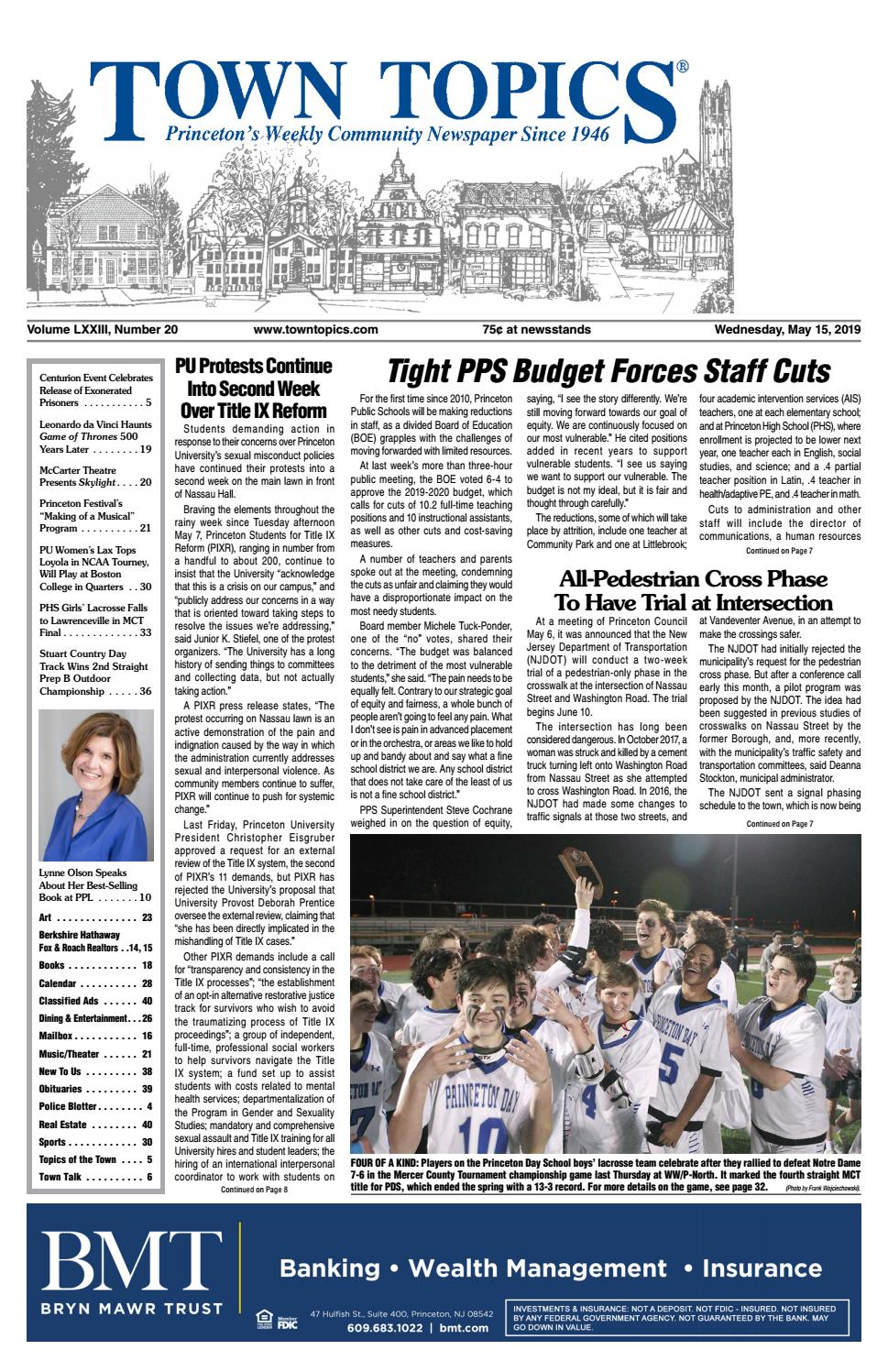 9a966c7f Town Topics Newspaper, May 15 by Witherspoon Media Group - issuu