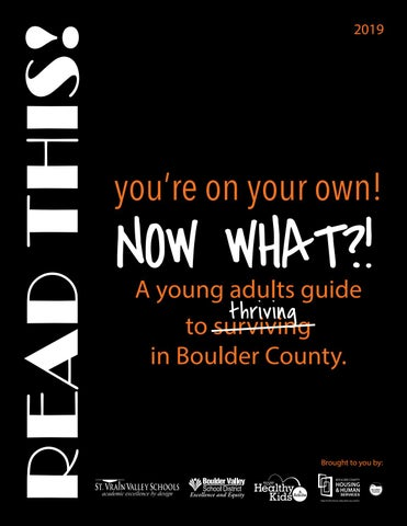 A Young Adults Guide to Thriving in Boulder County by