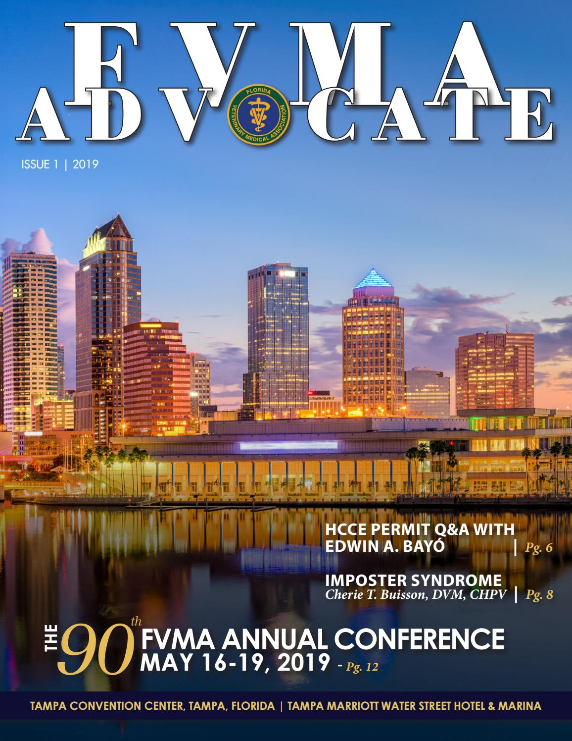 FVMA Advocate Issue 1, 2019 by FVMA - issuu