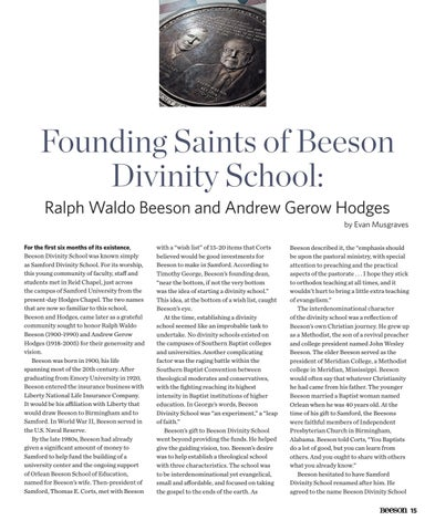 Page 17 of Founding Saints of Beeson: Ralph Waldo