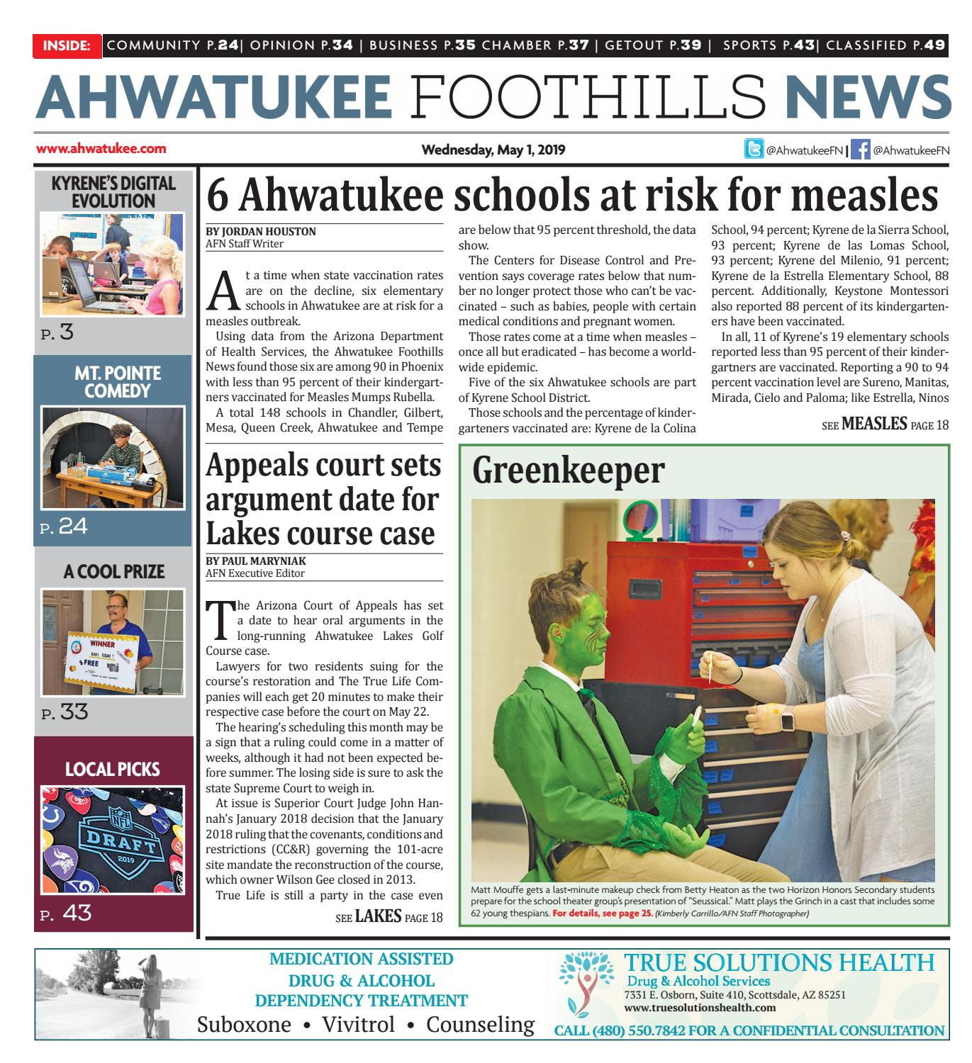 Ahwatukee Foothills News - May 1, 2019 by Times Media Group - issuu
