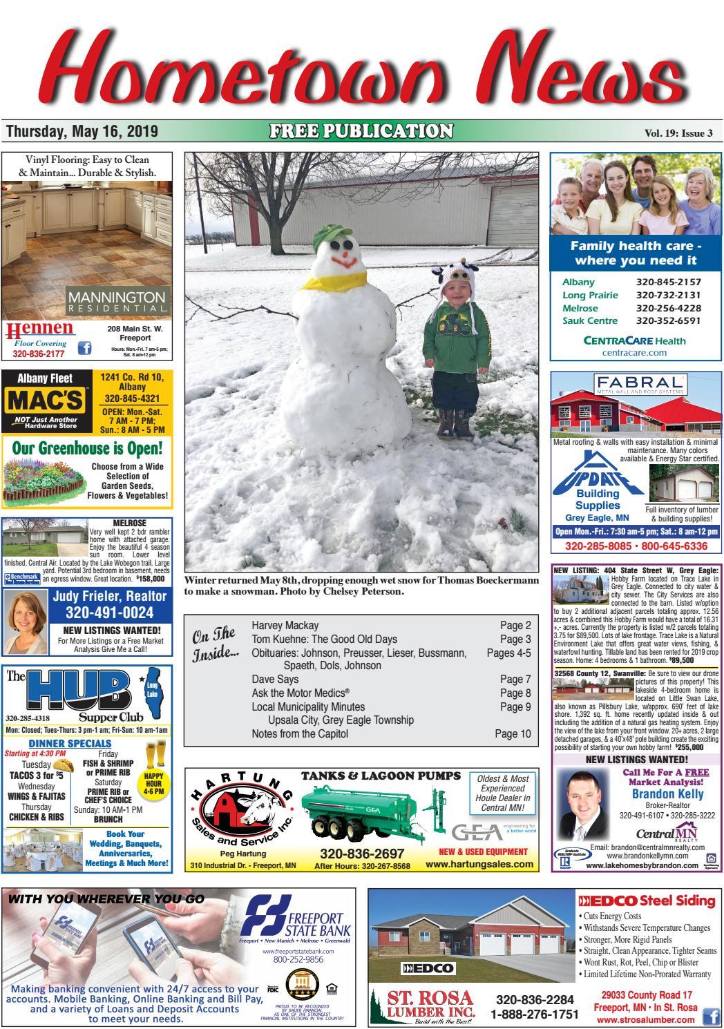 Hometown News May 16, 2019 by Hometown News - issuu