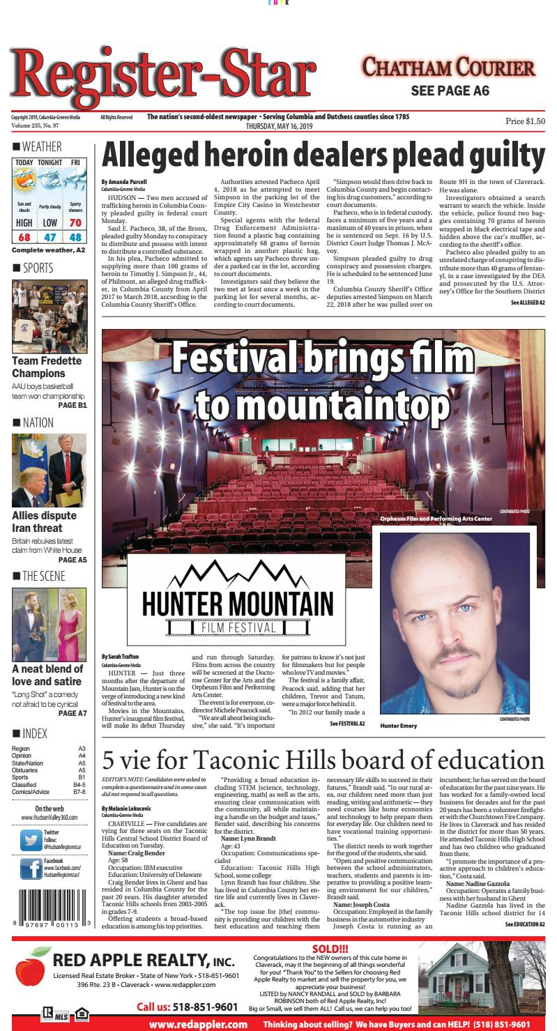 Eedition Register Star May 16 2019 By Columbia Greene Media