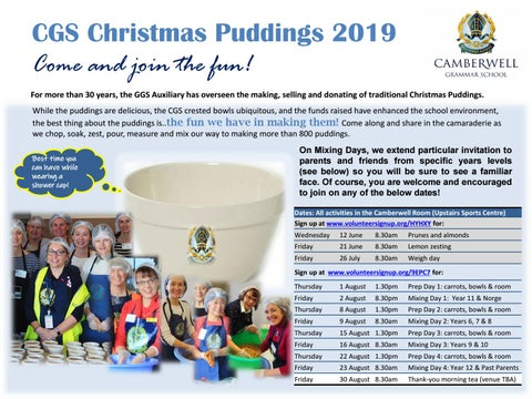Christmas Pudding 2019 CGS Christmas Pudding 2019 by Camberwell Grammar School   issuu