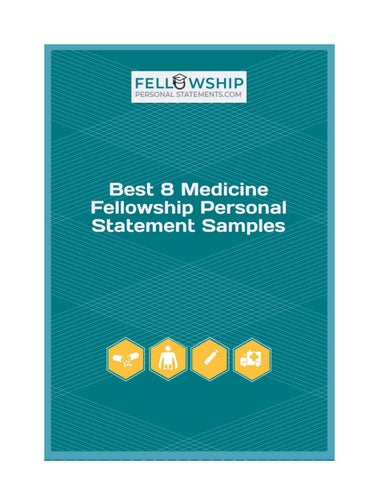 Best 8 Medicine Fellowship Personal Statement Samples by