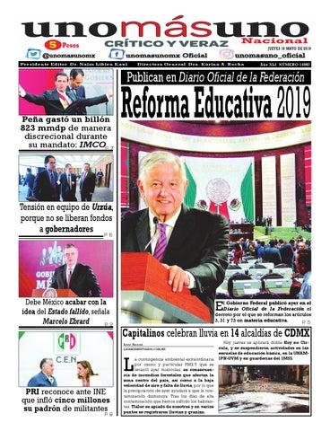 16 de Mayo 2019, Publican en Diario Oficial de la ...