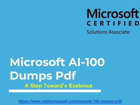 Microsoft AI-100 Dumps Pdf ~ Unleash Your Study Skills