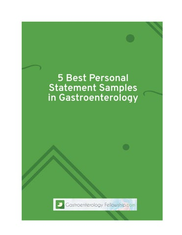5 Best Personal Statement Samples in Gastroenterology by