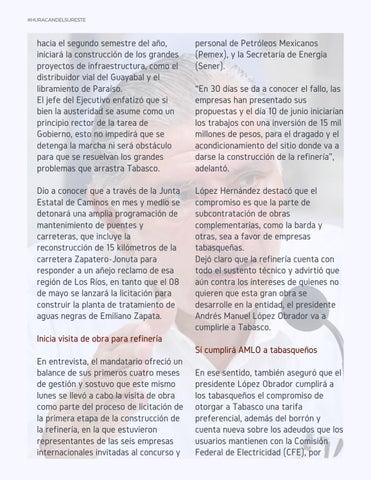 Page 21 of Hemos reencauzado a Tabasco: Adán Augusto