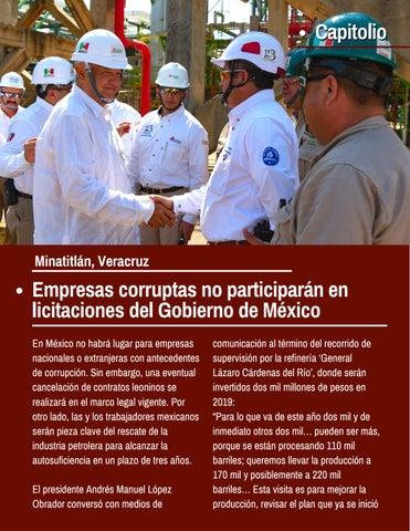 Page 6 of Empresas corruptas no participarán en licitaciones del Gobierno de México