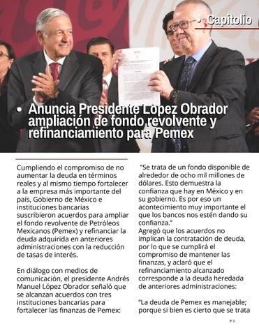 Page 9 of Anuncia López Obrador refinanciamiento para Pemex