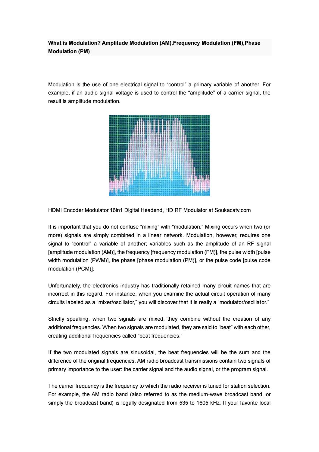 What is Modulation? Amplitude Modulation (AM),Frequency