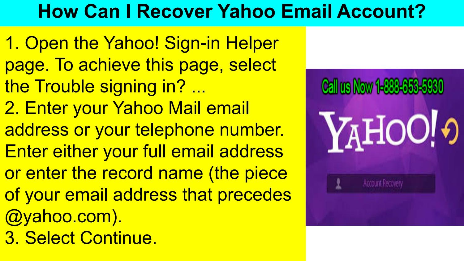 Recover Yahoo Mail Account Dial Yahoo Account Recover