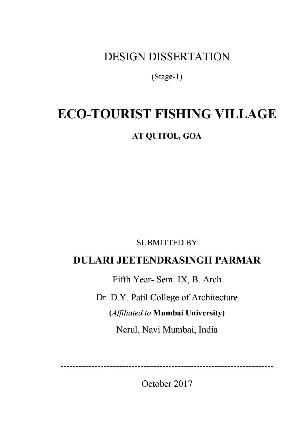 Eco Tourist Fishing Village, Quitol, Goa, India by - issuu