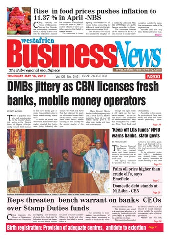 Westafrica BusinessNews Thursday, May 16, 2019 by