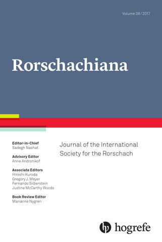 Rorschachiana 1/2017 by Hogrefe - issuu