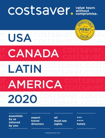 Costsaver America 2020 by Trafalgar - issuu