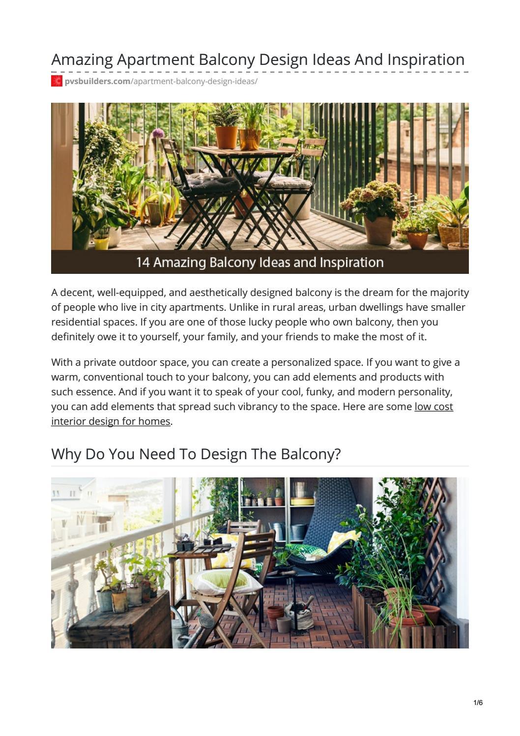 Amazing Apartment Balcony Design Ideas