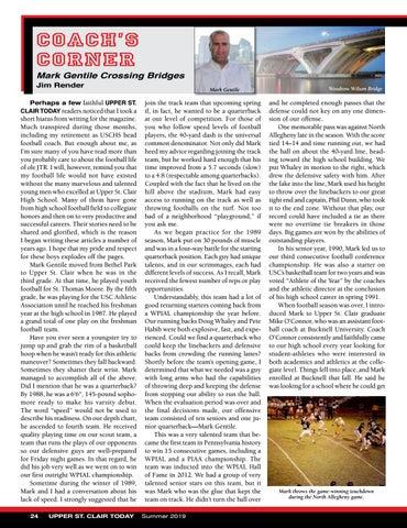 Page 26 of Coach's Corner - Mark Gentile Crossing Bridges