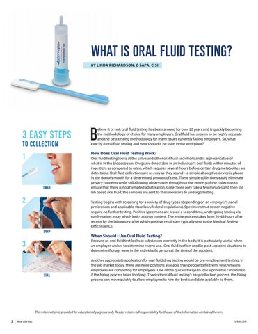 Page 2 of What is Oral Fluid Testing?