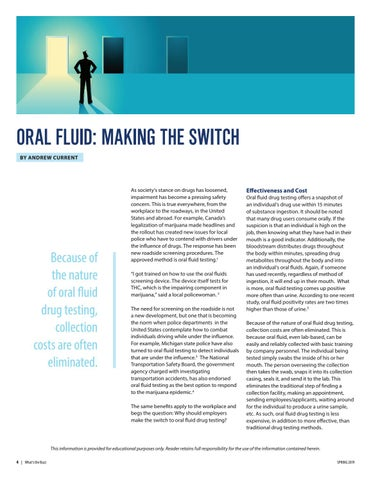 Page 4 of Oral Fluid: Making the Switch