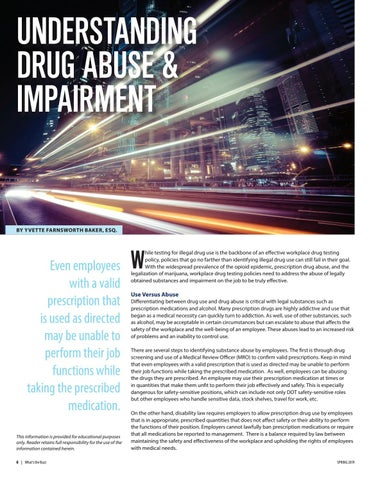 Page 6 of Understanding Drug Abuse & Impairment