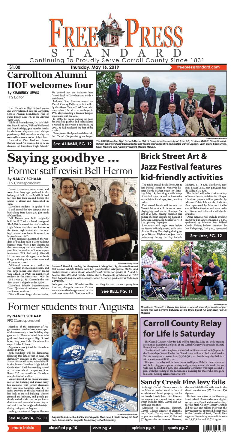 The Free Press Standard May 16, 2019 by Schloss Media - issuu
