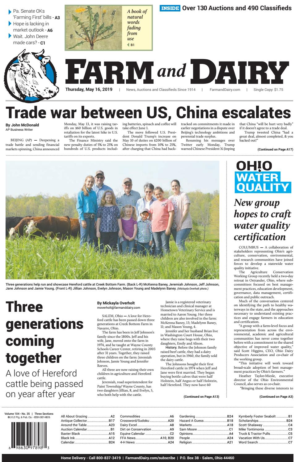 c2bb9a53a6b Farm and Dairy Newspaper 5/16/2019 by Farm and Dairy Newspaper - issuu