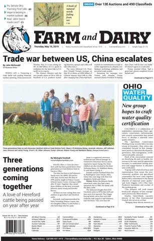 c30835515 Farm and Dairy Newspaper 5/16/2019 by Farm and Dairy Newspaper - issuu