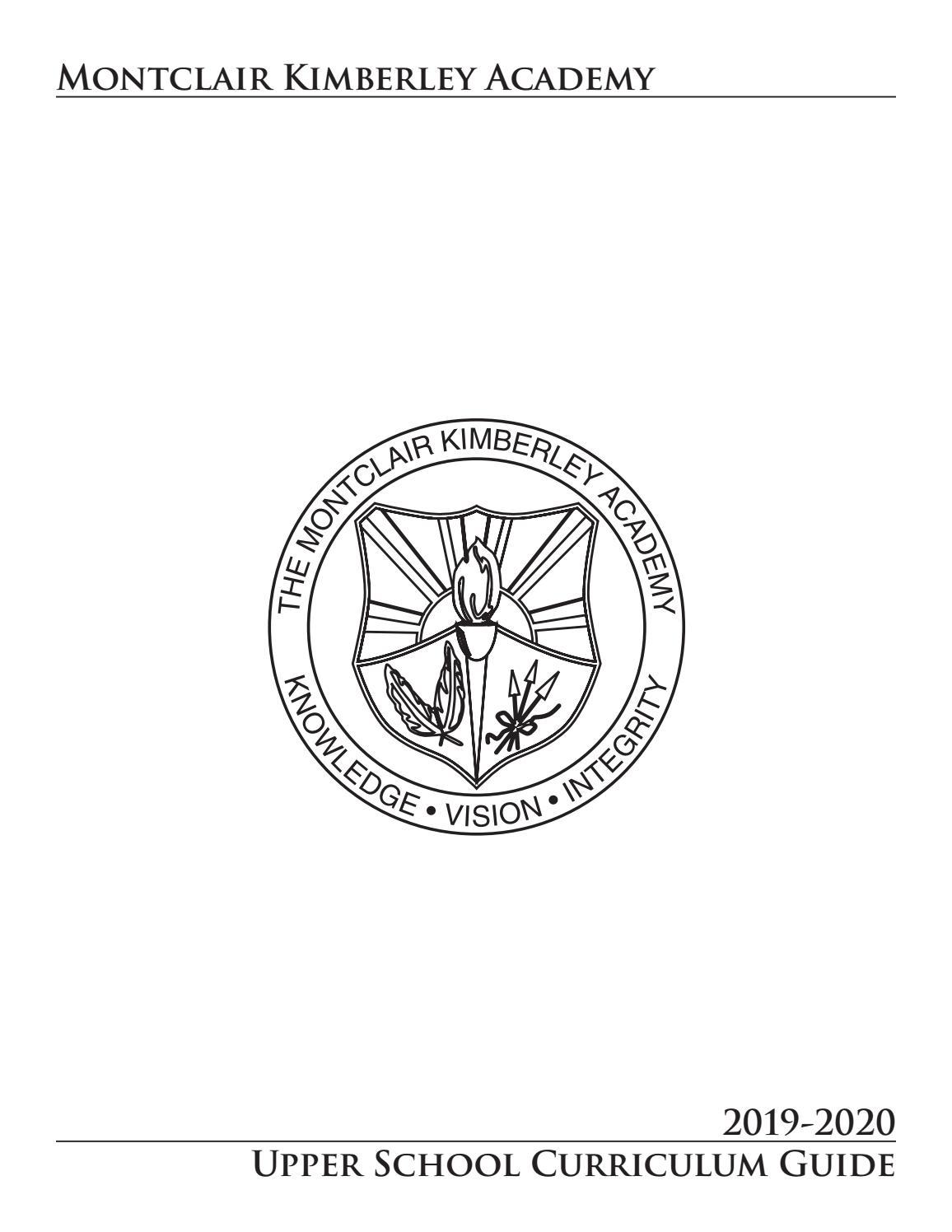 Upper School Curriculum Guide 2019-2020 by Montclair Kimberley