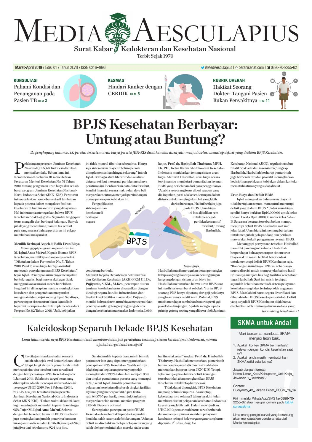 Surat Kabar Media Aesculapius SKMA Edisi Maret April 2019