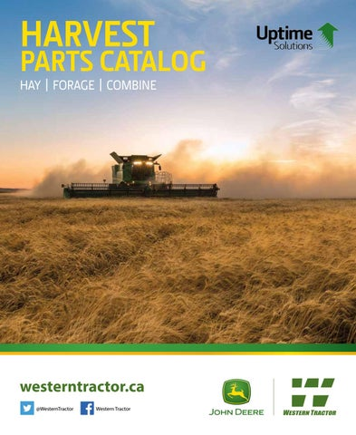 john deere 9610 combine wiring diagram harvest parts catalog by western tractor issuu  harvest parts catalog by western
