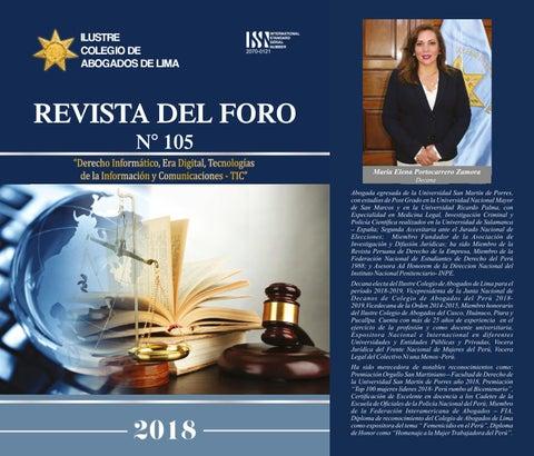 5a28b4dd935 Revista Del Foro N° 105 by Colegio de Abogados de Lima - Dirección ...