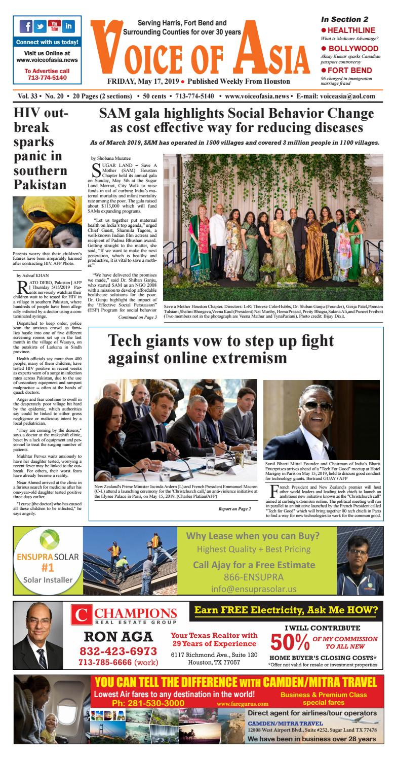 VOA E - Paper 05/17/19 by VoiceOf Asia - issuu