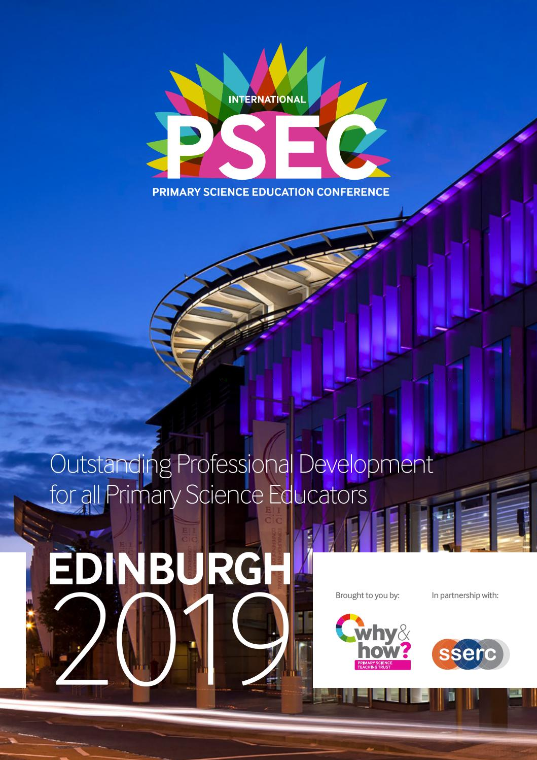 PSEC Conference handbook 2019 by Primary Science - issuu