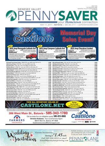 Batavia Edition - Genesee Valley Penny Saver 5-17-19 by Genesee