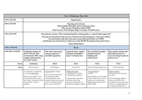 Schedule - #SSDP2017