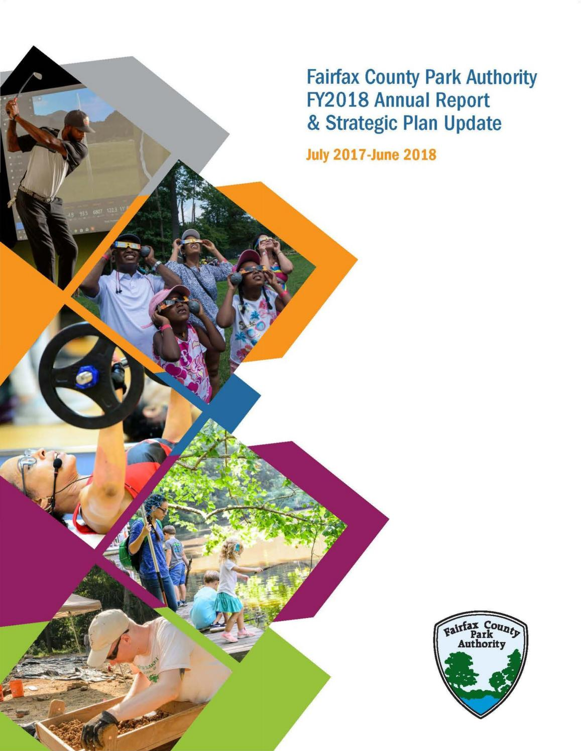 FY2018 Strategic Plan and Annual Report by Fairfax County Park