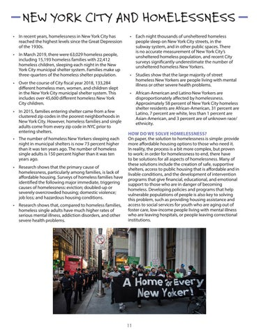 Page 11 of New York City and Homelessness