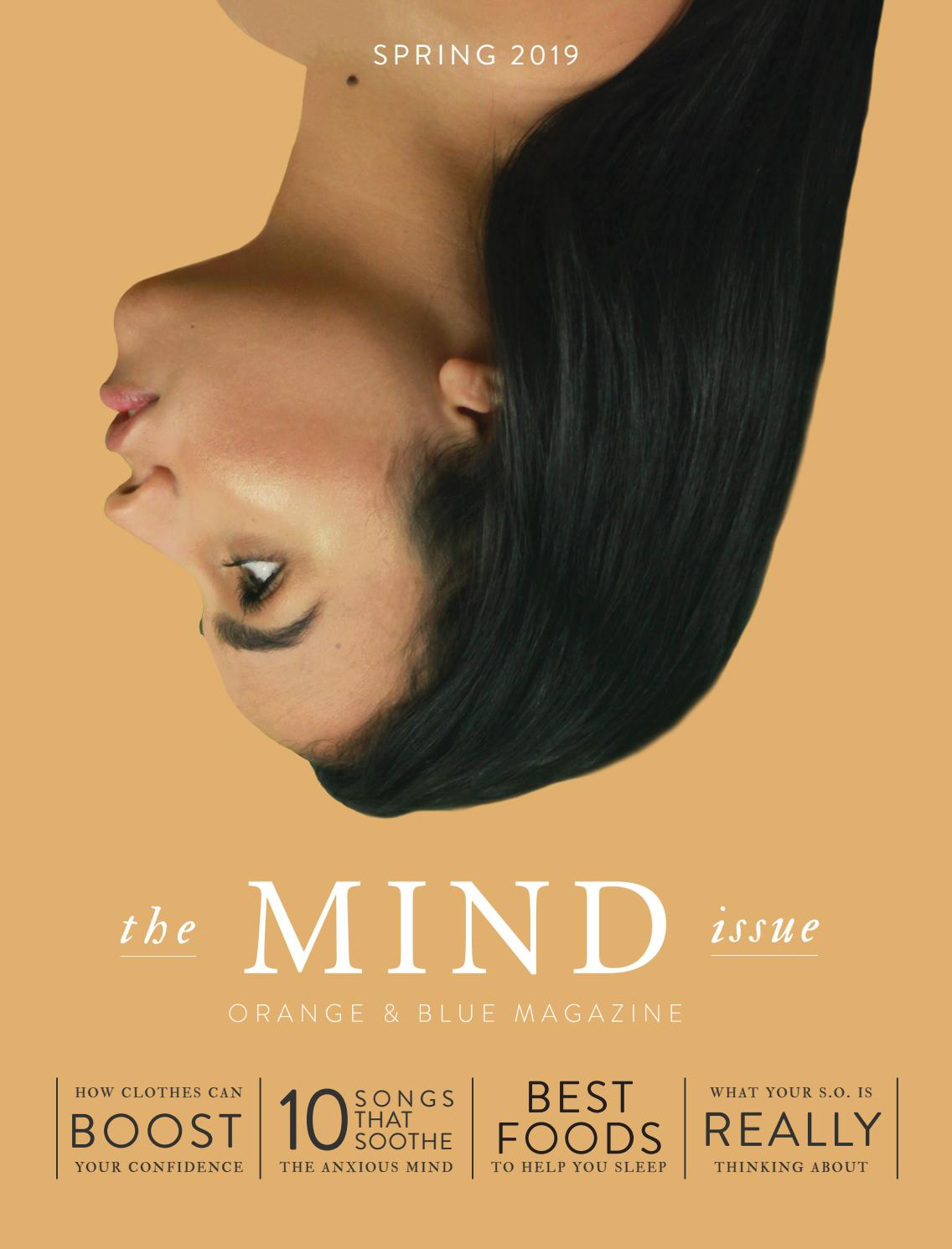 Orange and Blue magazine - Spring 2019 - The Mind Issue by