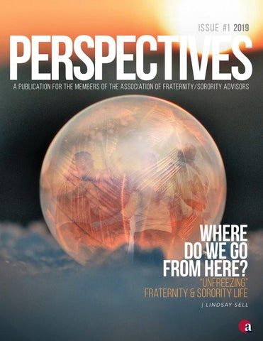 AFA Perspectives Issue 1 2019: Adapting Today for the Fraternity