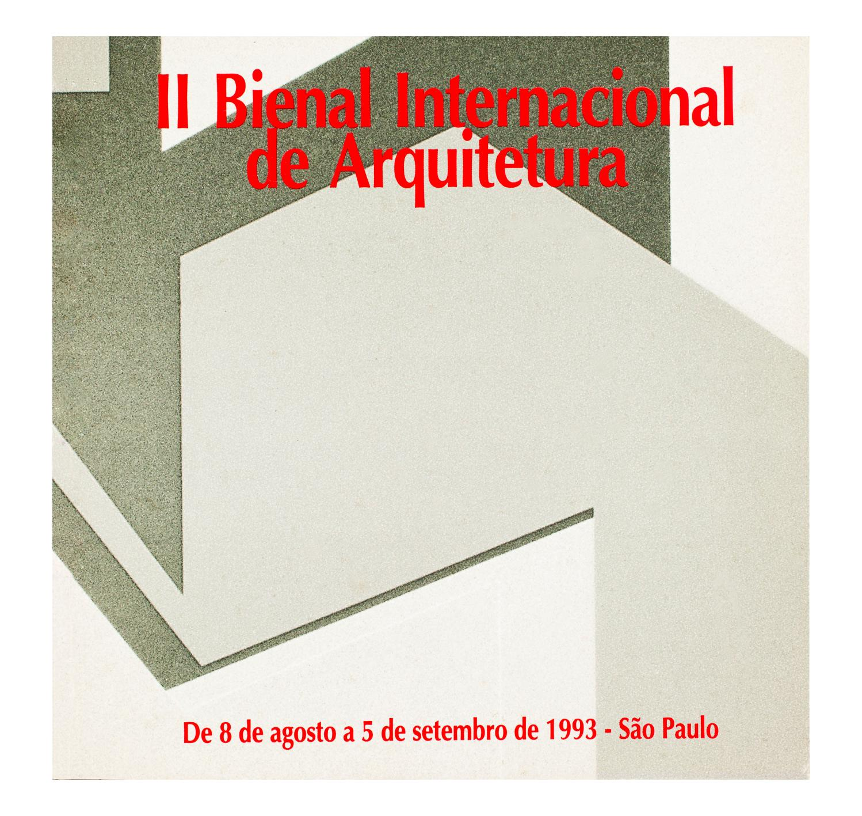 0c297f9a5c0 2ª Bienal Internacional de Arquitetura (1993) - Catálogo by Bienal ...
