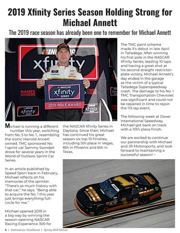 Page 4 of 2019 Xfinity Series Season Holding Strong for Michael Annett