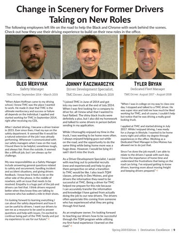 Page 9 of Change in Scenery for Former Drivers Taking on New Roles