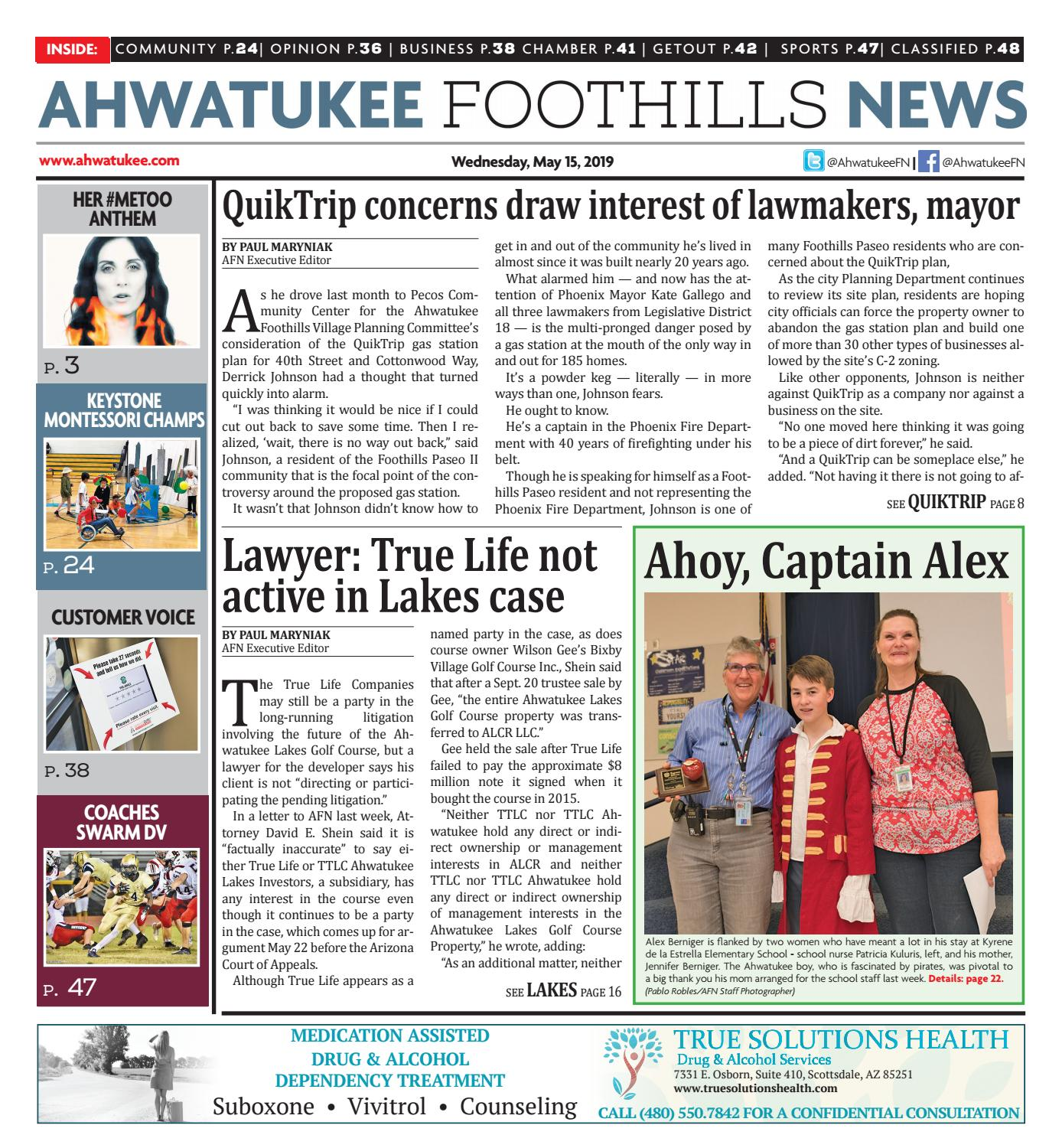 Ahwatukee Foothills News - May 15, 2019 by Times Media Group - issuu
