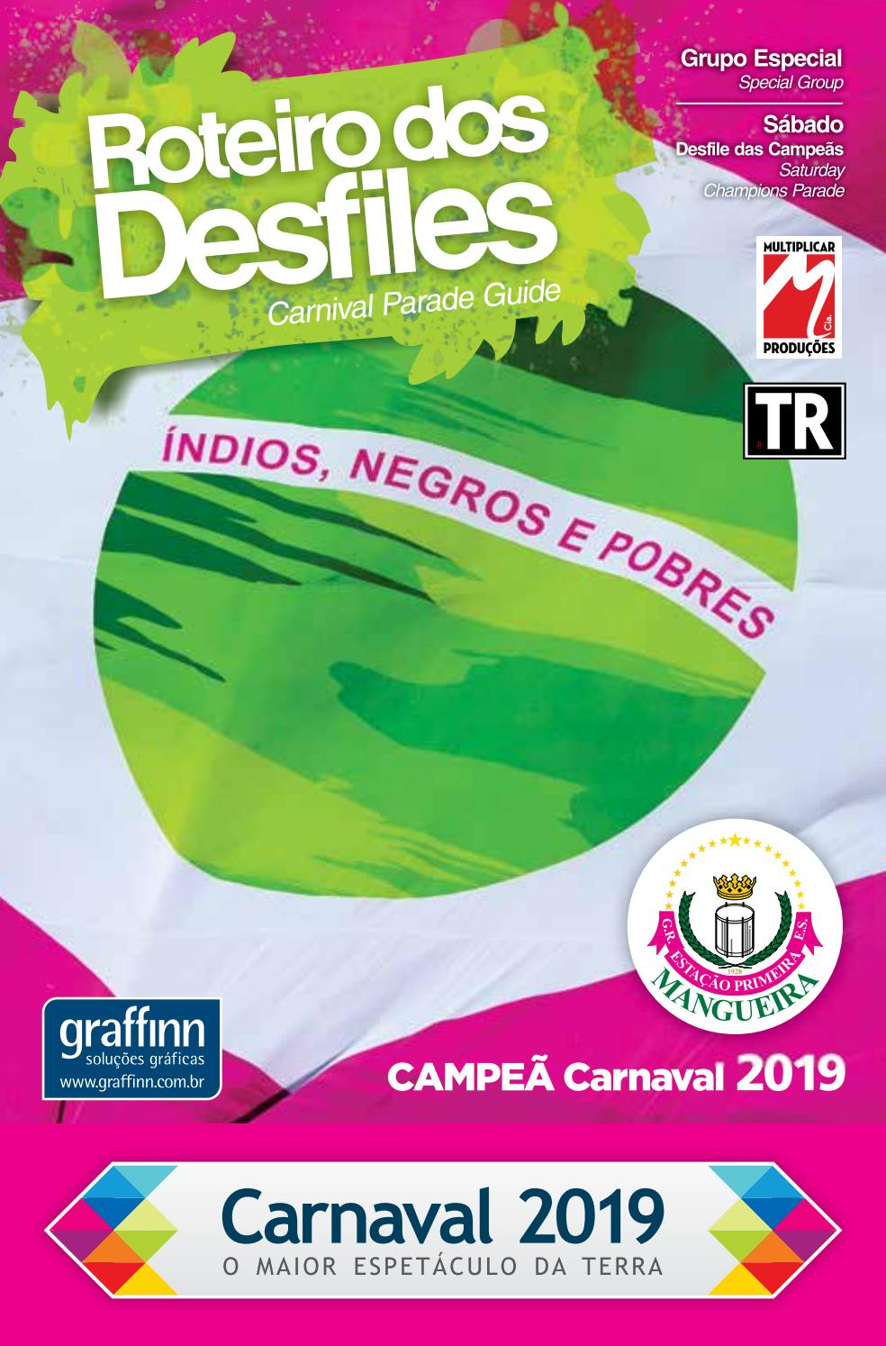 03e363bed Roteiro dos Desfiles Carnaval 2019 Campeãs by Portal Academia do Samba -  issuu