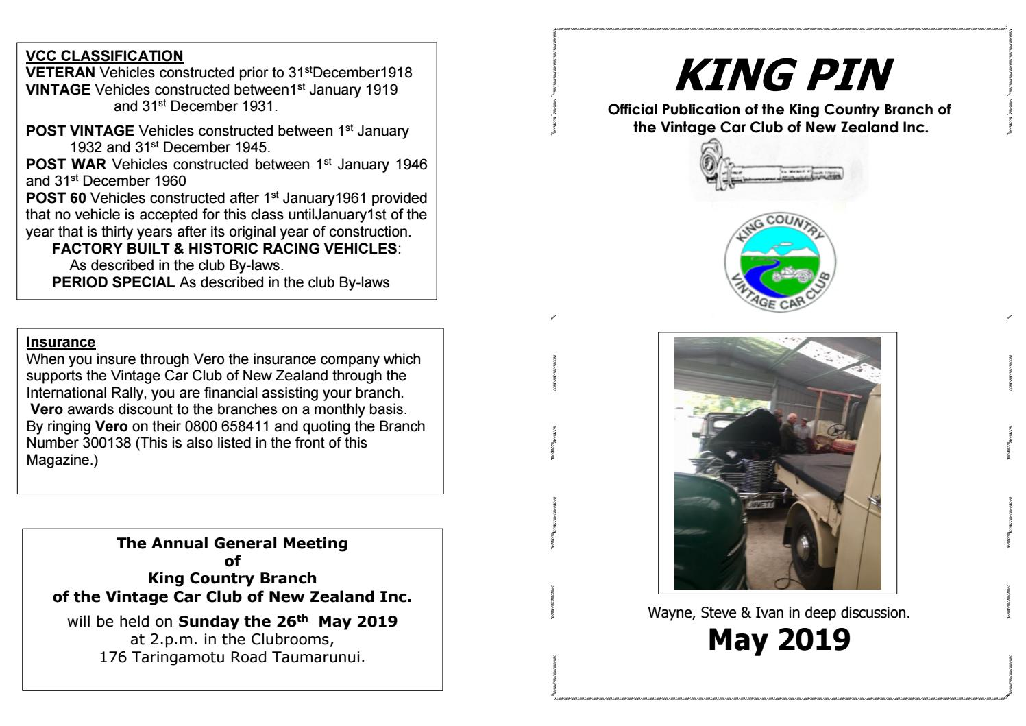 King Country Vcc May 2019 By Vintage Car Club Of New Zealand Issuu