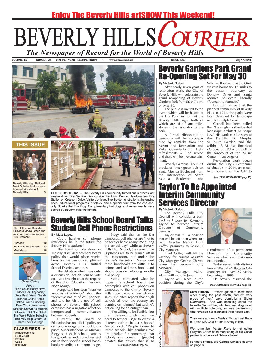 BH Courier E-edition 051719 by The Beverly Hills Courier - issuu